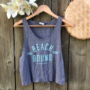 PINK / Beach Bound / Grey Tank top / summer!